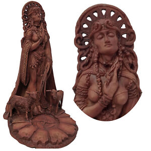 BRIGID-BRIGIT-CELTIC-IRISH-GODDESS-FIRE-FORGE-Maxine-Miller-Wicca-Statue-11023