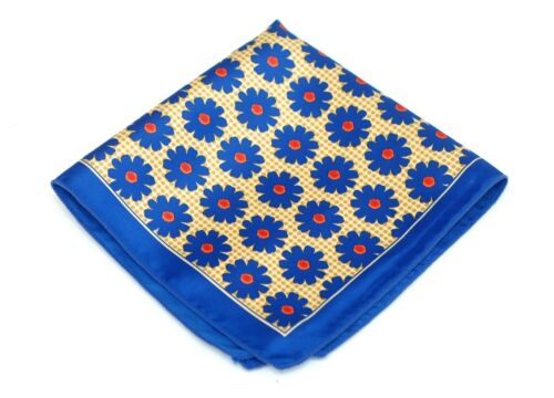 Royal Blue Lime Silk $75 Retail New Lord R Colton Masterworks Pocket Square