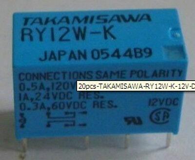 20pcs TAKAMISAWA RY12W-K 12V DPDT Signal Relay