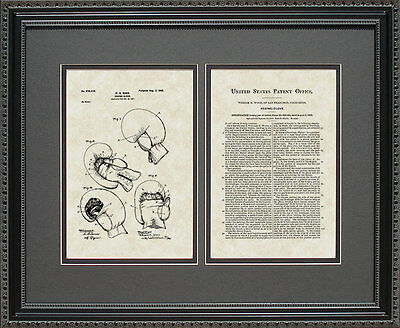 Patent Art - Boxing Gloves - Boxer Coach Manager Artwork Wall Hanging Gift W8434