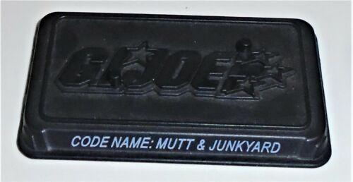 Base       2008 Mutt /& Junkyard GI Joe Figure Name Plate Display Stand