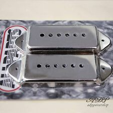 2xCACHES MICRO DOG EAR P90 Staggered Cover Pickup Vintage Epiphone Gibson Nickel