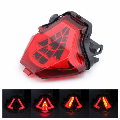 DEL Tail Light Turn Signals Integrated Rouge pour Yamaha MT-07 MT07 FZ-07 2014-2017