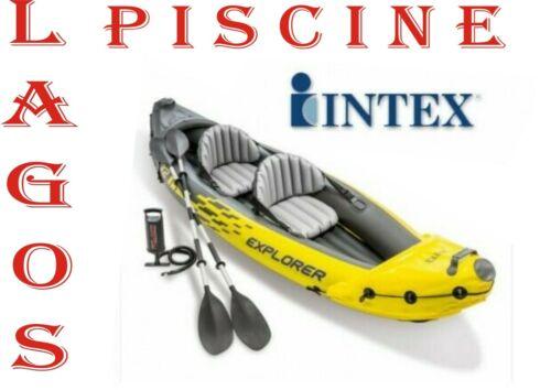 Canoa Gonfiabile 2 Posti in PVC cm 312x91x51 h con Remi Intex Explorer K2 68307