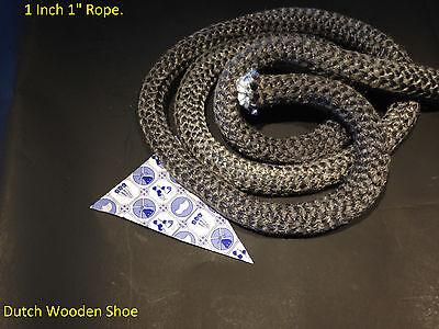"7//8/""  White Gasket rope 8 Feet Outdoor Stove Pellet wood Stove Furnace Boiler."