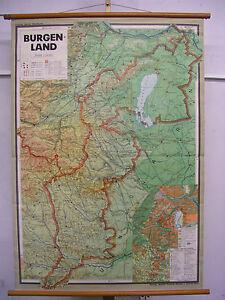 Poster-per-Pareti-Scolastiche-Cartina-da-Burgenland-Austria-Deutsch-W-ungarn-F-amp-b