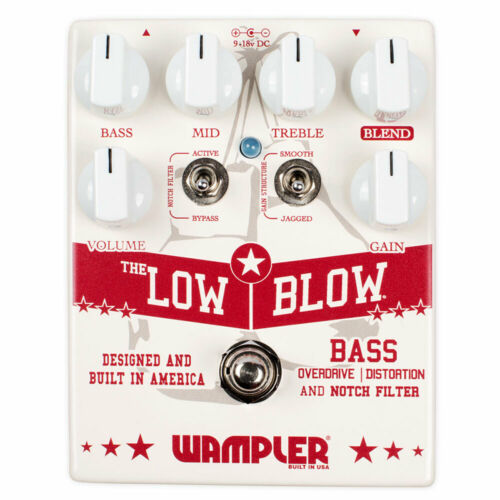 Wampler Pedals Low Blow Bass Overdrive /& Notch Filter