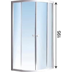 Box Doccia Semicircolare 80x80 H 180.Dettagli Su Box Doccia Semicircolare In Cristallo 90x90 Profilo Bianco Altezza 195 Cm