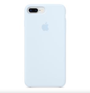 iPhone-8-7-PLUS-Apple-Original-Echt-Silikon-Schutz-Huelle-Himmelblau
