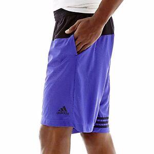 NWT adidas Men's Crazy Skills Basketball Shorts Flash Purple/Black S11224