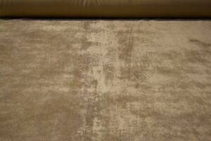 Beige-Tan-Flocked-Velvet-Sueded-Upholstery-Fabric-56-034-Wide-Plush-Soft-BTY