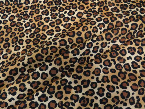 Manchas de Leopardo Beige Rose /& Hubble 100/% Tela De Algodón De Piel Animal Estampado De Leopardo