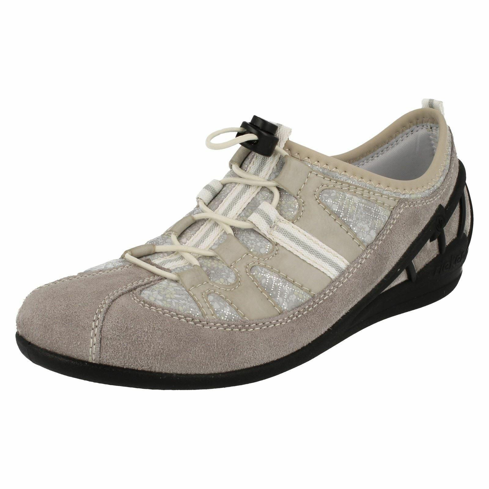 envío rápido en todo el mundo Damas Rieker 59570 gris Cordones Tacón Bajo plantilla extraíble Deportes Deportes Deportes Zapatillas Zapatos  Hay más marcas de productos de alta calidad.