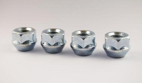 Set di 4 x Extra Corta Distanziatore Nuts M12 x 1.25 19 mm Hex aperto