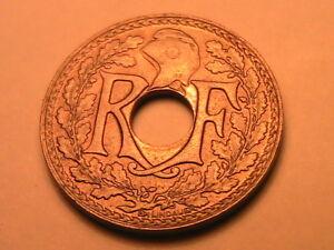 1918-FRANCE-5-Centimes-Ch-Gem-BU-Lustrous-White-Five-Cent-WWI-Era-French-5C-Coin