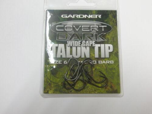 Alle Größen Gardner Covert Dunkel Wide Gape Talon Spitze Haken 10stk