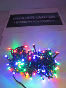 Details About 100 Multicolour Outdoor Led Christmas Lights With Auto Timer Multifunction Garde