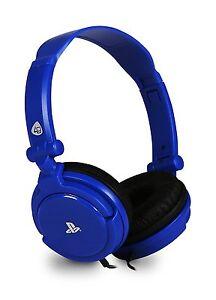 PRO4-10-Auriculares-Estereo-Juego-Chat-Con-Microfono-Azul-para-Playstation-4-PS4-Ps-Vita