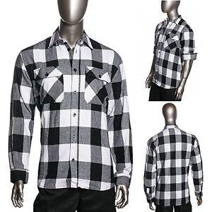 Hg Mens Brawny Buffalo Plaid Flannel Shirt Long Sleeve