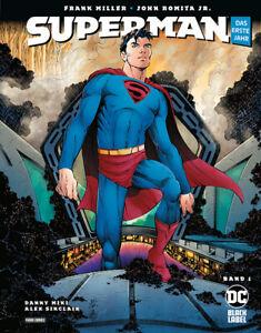 SUPERMAN-Das-erste-Jahr-1-HC-portofrei-Black-Label