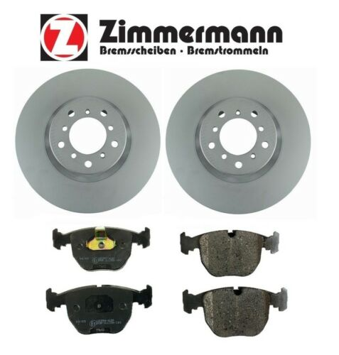 For BMW E39 M5 2000-2003 Set of Front 345x32mm Brake Rotors /& Pads Zimmermann