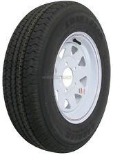 Trailer Wheel & Tire #354 ST175/80R13 LRC 5 Bolt Hole Steel White Striped Spoke