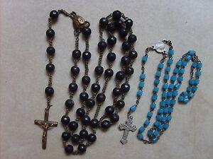 Lot-de-2-anciens-chapelets-rosaires-catholiques-de-40-8-cm-et-28-cm-lot-B40