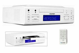 Blaupunkt-CD-Kuechenradio-KRC-30-WH-Fernbedienung-Unterbau-Unterbauradio-Radio-CD