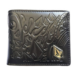 Mens Leather Bi-Fold Wallet with SURFER// SURFING Image *Great Gift*