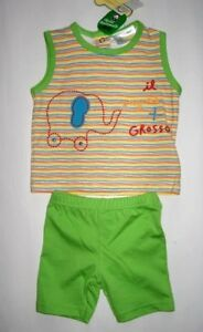 BABY-SET-SHORTY-SET-SHORTY-KURZER-PYJAMA-BAUMWOLLE-GR-74-NEU