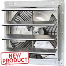 16 Shutter Exhaust Fan 1280 Cfm Industrial Speed Wall Mount Garage Shop Attic