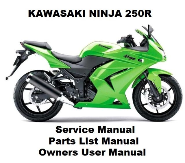 ninja 250 workshop service repair parts owners manual pdf on cd r rh ebay co uk 2012 ninja 250r owners manual pdf 2012 ninja 250r owners manual pdf