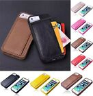 Heavy Duty Soft Leather Wallet Shock Proof Case Cover For Apple iPhone 4 4S 5 5S