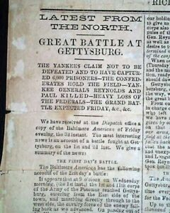 battle of gettysburg paper