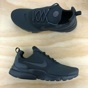 61a413ececbe Nike Air Presto Fly SE Triple Black Grey Running Shoes  908020-007 ...