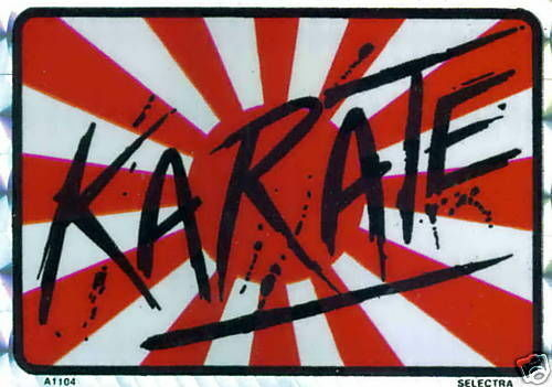 Karate Rising Sun Sticker (Lot of 3 - NEW)