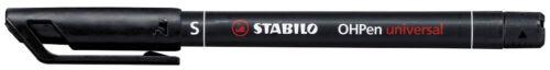 10 STABILO OHPen universal wasserfest Folienstifte schwarz
