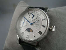 43mm ASIAN GMT MOVEMENT PARNIS MOONPHASE VINTAGE STYLE HOMAGE WATCH UK SUPERB