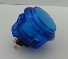 Japan Sanwa Clear Blue Buttons x 1 pc OBSC-30-CB Video Arcade Parts