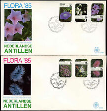 Netherlands Antilles 1985 Flowers FDC First Day Cover Set #C26772