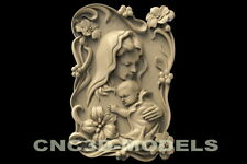 3d Stl Model For Cnc Router Carving Artcam Aspire Wings Angel Baby Girl D155