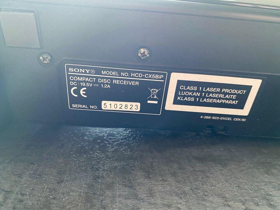 Micro Hi- Fi Conponent System CMT- CX5BIP, Sony Micro Sony