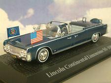 ATLAS 1/43 Lincoln Continental ss-100-x JFK PRESIDENTE KENNEDY ASSASSINIO 1963