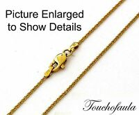 14k Solid Yellow Gold Sparkling Diamond Cut Tornado Chain 16 Inches 2.1 Grams