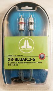 NEW JL AUDIO XB-BLUAIC2-6 2-CHANNEL BLUE RCA CAR AUDIO INTERCONNECT CABLES 6 FT