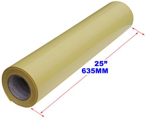"Yellow 1968x25/"" 0.63x50 Meters Glossy Cold Laminating Film Uv Luster Vinyl"