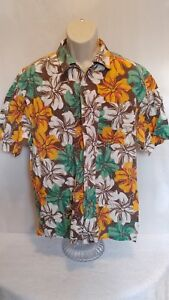 Third-Coast-Men-039-s-Hawaiian-Shirt-Floral-EUC-Size-Large