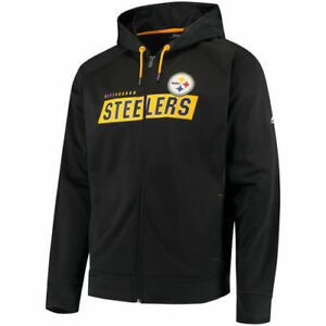 new arrival dd0d8 d6148 Details about PITTSBURGH STEELERS GAME ELITE SYNTHETIC FULL-ZIP HOODIE MENS  MEDIUM BRAND NEW!
