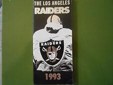 1993 LOS ANGELES RAIDERS MEDIA GUIDE Yearbook Press Book Program NFL LA Book AD