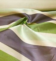 SUPER LUXURIOUS LIME STRIPE DAMASK CURTAIN FABRIC 3 METRES